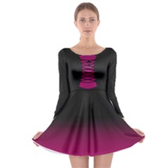 medieval / gothic corsage Long Sleeve Skater Dress