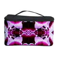 White Burgundy Flower Abstract Cosmetic Storage Cases