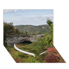 Natural Arch Heart Bottom 3d Greeting Card (7x5)