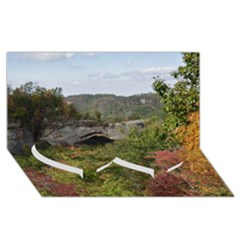 Natural Arch Twin Heart Bottom 3d Greeting Card (8x4)