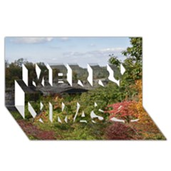 Natural Arch Merry Xmas 3d Greeting Card (8x4)