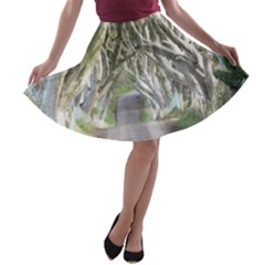 DARK HEDGES, IRELAND A-line Skater Skirt