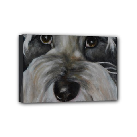 The Schnauzer Mini Canvas 6  x 4