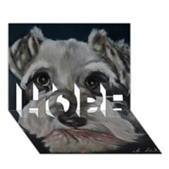 The Schnauzer HOPE 3D Greeting Card (7x5)