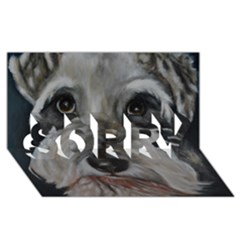The Schnauzer SORRY 3D Greeting Card (8x4)