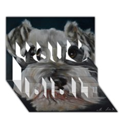 The Schnauzer You Did It 3D Greeting Card (7x5)