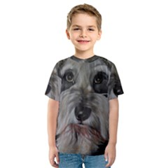 The Schnauzer Kid s Sport Mesh Tees