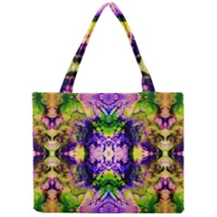 Green,purple Yellow ,goa Pattern Tiny Tote Bags