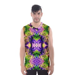Green,purple Yellow ,goa Pattern Men s Basketball Tank Top