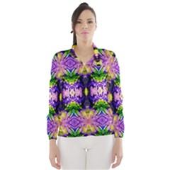 Green,purple Yellow ,goa Pattern Wind Breaker (Women)