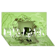 Cute Girl With Steampunk Hat And Floral Elements Engaged 3d Greeting Card (8x4)