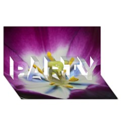Purple Beauty PARTY 3D Greeting Card (8x4)