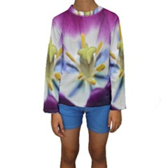 Purple Beauty Kid s Long Sleeve Swimwear