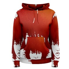 Nappyheads Logo Red Women s Pullover Hoodies