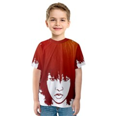 Nappyheads Logo Red Kid s Sport Mesh Tees