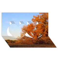 BEAUTIFUL AUTUMN DAY Twin Hearts 3D Greeting Card (8x4)