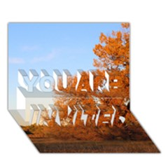 BEAUTIFUL AUTUMN DAY YOU ARE INVITED 3D Greeting Card (7x5)