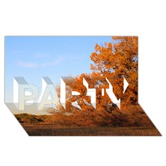BEAUTIFUL AUTUMN DAY PARTY 3D Greeting Card (8x4)