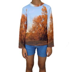 BEAUTIFUL AUTUMN DAY Kid s Long Sleeve Swimwear