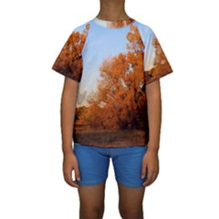 BEAUTIFUL AUTUMN DAY Kid s Short Sleeve Swimwear