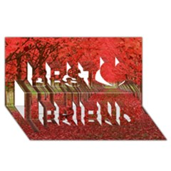 AVENUE OF TREES Best Friends 3D Greeting Card (8x4)