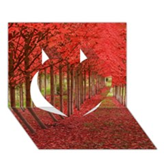 Avenue Of Trees Heart 3d Greeting Card (7x5)