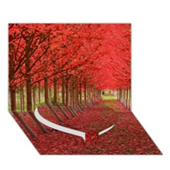 AVENUE OF TREES Heart Bottom 3D Greeting Card (7x5)
