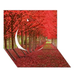 Avenue Of Trees Circle 3d Greeting Card (7x5)