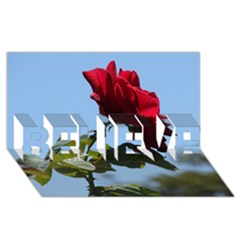 RED ROSE 2 BELIEVE 3D Greeting Card (8x4)