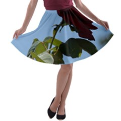 RED ROSE 2 A-line Skater Skirt