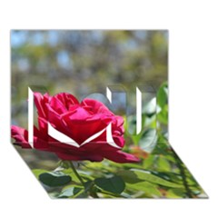 Red Rose 1 I Love You 3d Greeting Card (7x5)