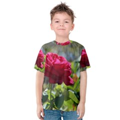 RED ROSE 1 Kid s Cotton Tee