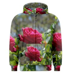 RED ROSE 1 Men s Zipper Hoodies