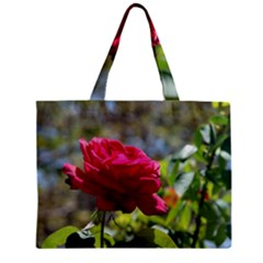 RED ROSE 1 Zipper Tiny Tote Bags