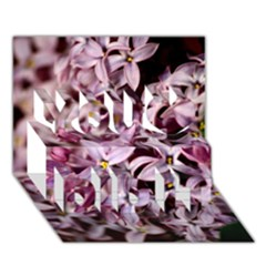 Purple Lilacs You Did It 3d Greeting Card (7x5)