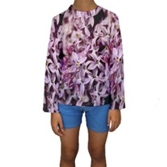 Purple Lilacs Kid s Long Sleeve Swimwear