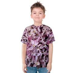 PURPLE LILACS Kid s Cotton Tee