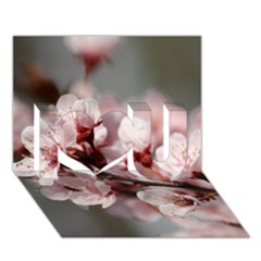 PLUM BLOSSOMS I Love You 3D Greeting Card (7x5)