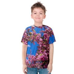 Pink Flowers Kid s Cotton Tee