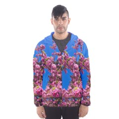 Pink Flowers Hooded Wind Breaker (men)