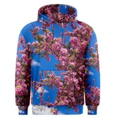Pink Flowers Men s Pullover Hoodies