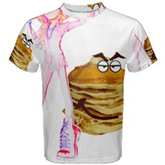 Mal Girl And Mr Pancake Men s Cotton Tees