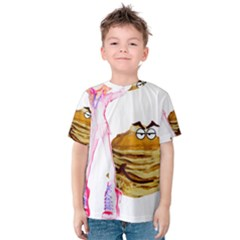 MAL GIRL AND MR PANCAKE Kid s Cotton Tee
