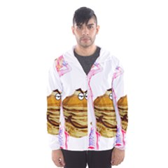 MAL GIRL AND MR PANCAKE Hooded Wind Breaker (Men)