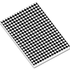 Black And White Scallop Repeat Pattern Large Memo Pads