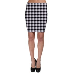 Black And White Scallop Repeat Pattern Bodycon Skirts