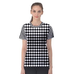 Black And White Scallop Repeat Pattern Women s Sport Mesh Tees