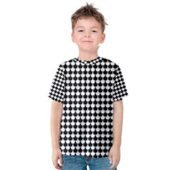 Black And White Scallop Repeat Pattern Kid s Cotton Tee