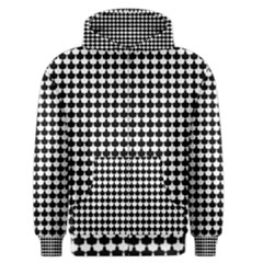 Black And White Scallop Repeat Pattern Men s Zipper Hoodies
