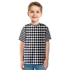 Black And White Scallop Repeat Pattern Kid s Sport Mesh Tees